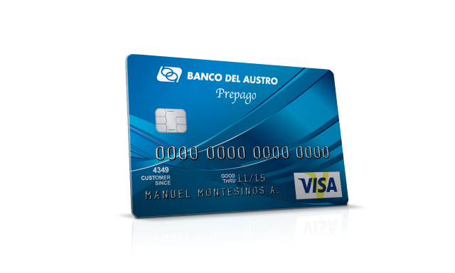 Banco del austro portal tarjetas visa cr dito prepago Habilitar visa debito para el exterior